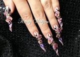 3D Flower Designer Nails