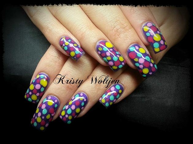 Purple Colour Polka Dots