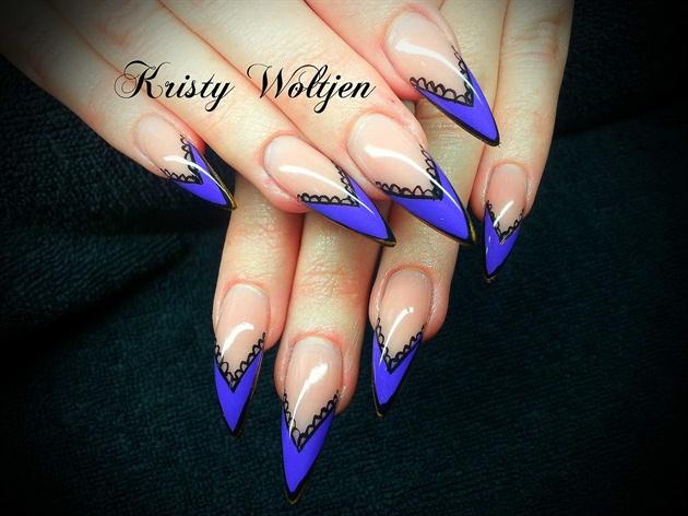 Purple Lace Stilettos