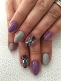 Purple Grey Mani
