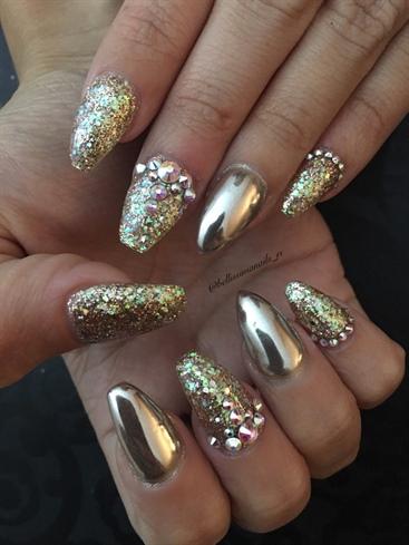 Champagne Chrome With Custom Glitter Mix