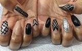 Black Nude Silver Gels