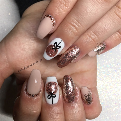 Rose gold ornament nails nail art gallery rose gold ornament nails prinsesfo Gallery
