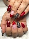 Red Matte Valentine's Day Nails