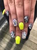 Neon Yellow X Nail Art