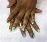 green/yellow ombre