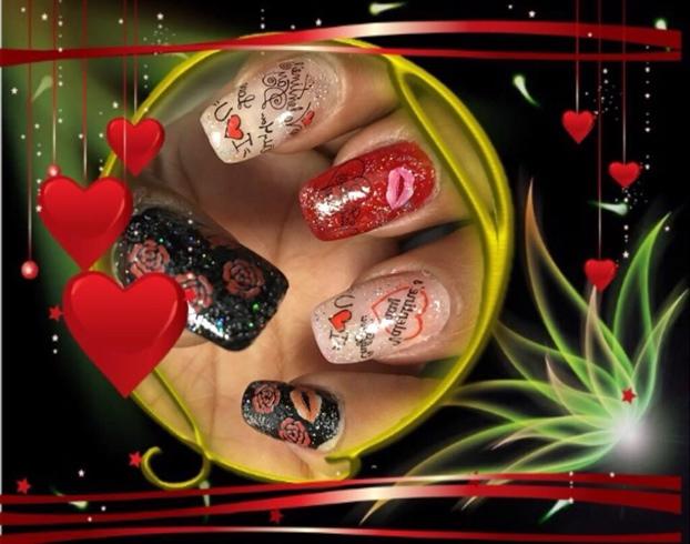 Valentin Nail Art