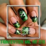 Frankestein nail art 2018