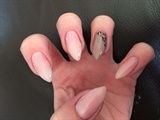 Hand painted gel leopard print