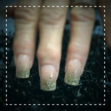 Gold Glitter Fade