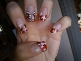 sexy clause christmas nails