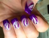 Purple French Nail Art