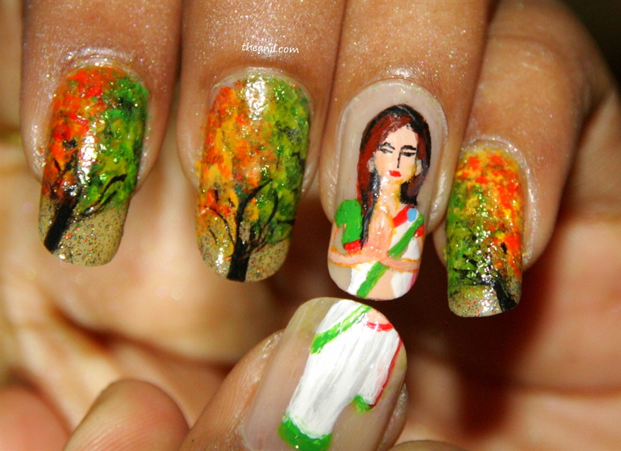 Happy Independence Day India Nail Art Gallery