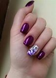 Purple one stroke flower