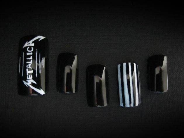 Metallica Style Acrylic Nails