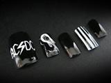 AC/CD style acrylic nails