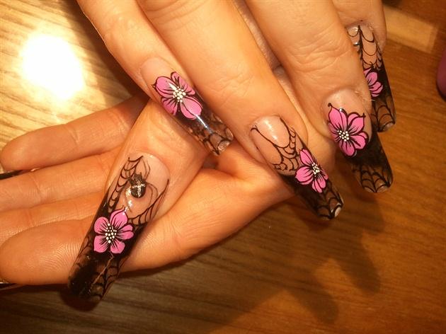 Halloween theme acrylic nails