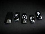 Rock style acrylic nails