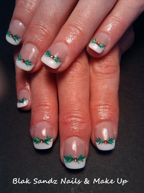 Christmas Holly Nail Art Gallery