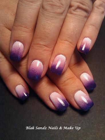 Purple Fade Nail Art Gallery