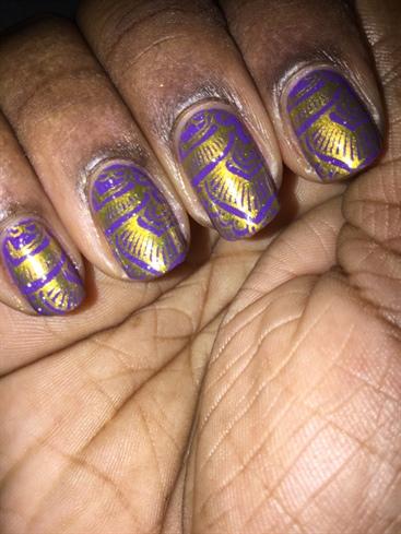Purple & Gold Paisley