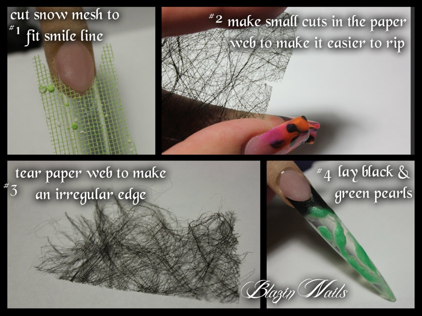 Blazin Nails black & green step by step - Nail Art Gallery Step-by ...