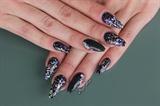black opal glitter nails