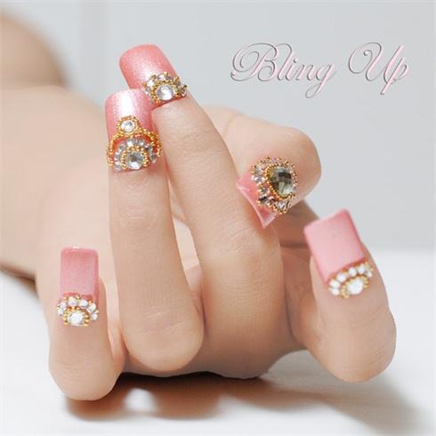 Pink 3d nail art with swarovski crystals nail art gallery pink 3d nail art with swarovski crystals prinsesfo Image collections