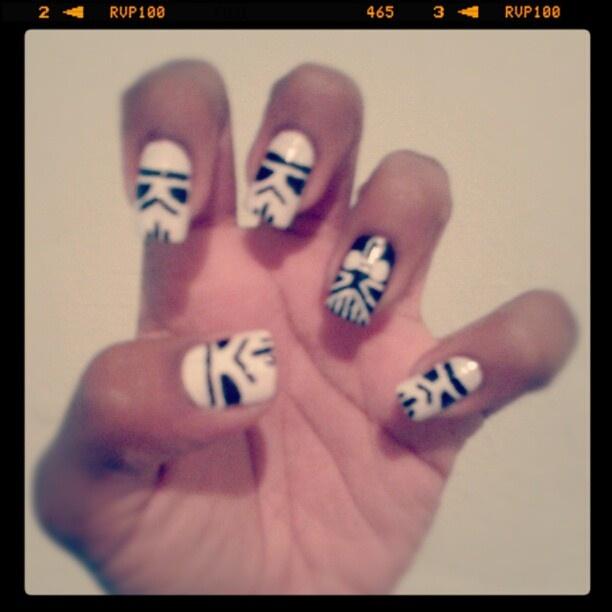 Modern Darth Vader Nails Mold - Nail Paint Design Ideas ...