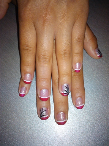 pink and white tips