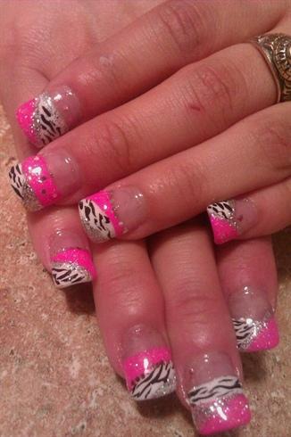 zebra print n pink
