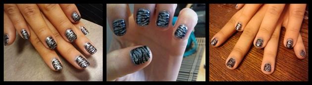 silver zebra prints