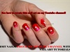 Nail art for valentine day