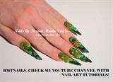 Green spring nail art