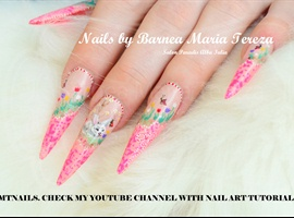 Spring bunny nails by BMT NAILS