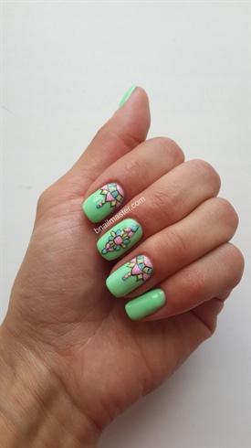 Light Green 3D Manicure