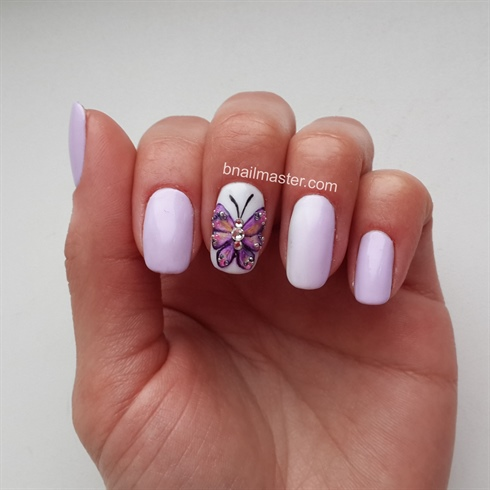 Butterfly manicure