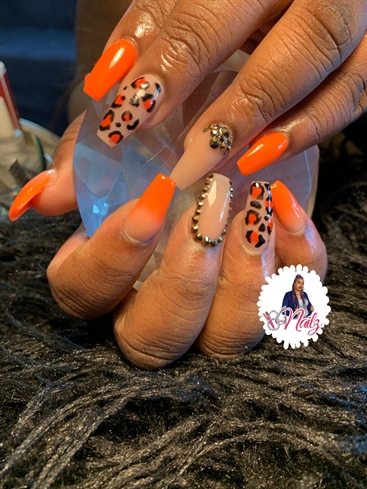 Orange & Leopard