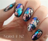 Dazzling Starry nail art design !