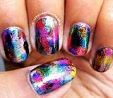 Dazzling Starry nail art design !
