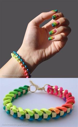 Neon Rainbow Gradient and Swirly Stampin