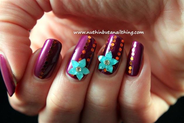 Resin flower adornments