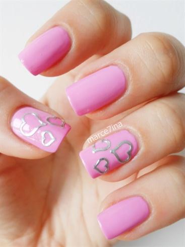 Pink Hart  Nail Stickers