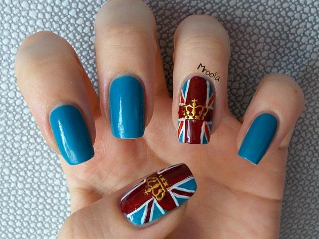 British Flag Nail Art + Tutorial
