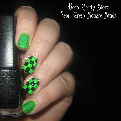 Neon Green Studs