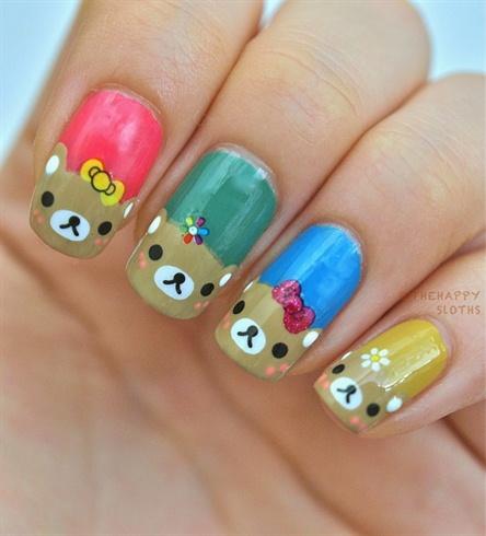 Teddy Bear Nails