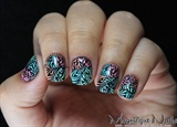 #M83 Nail Art Stamping Plate