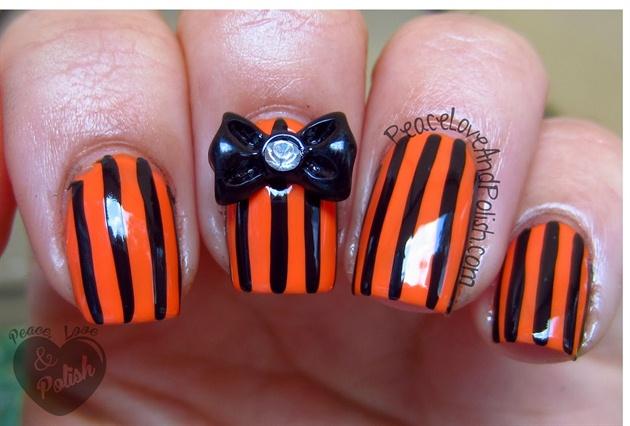Orange & Black Stripes