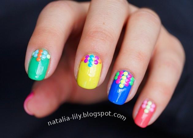 Neonowe Kolorowe Ćwieki