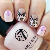 Chevron Leopard Print Nails & Pastel Stu